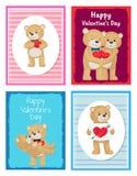 Je t'aime et moi Teddy Bears Vector Photos stock