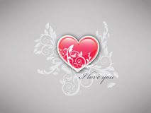 Je t'aime - fond de coeur Photos stock