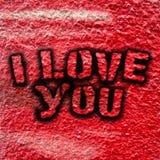 Je t'aime graffiti image stock