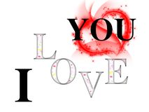 Je t'aime inscription avec les coeurs de couleur et le coeur rouge de fond et grand blanc Image stock