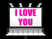 Je t'aime le signe se rapportent à aimer romantique et illustration libre de droits