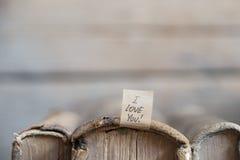 Je t'aime lettrage de main Carte de Valentine Image stock