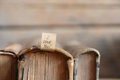 Je t'aime lettrage de main Carte de Valentine Images stock
