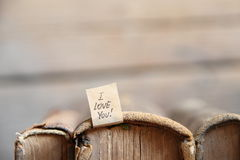 Je t'aime lettrage de main Valentine ou carte de mariage Photo libre de droits