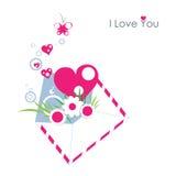 Je t'aime lettre Photo stock