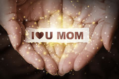 Je t'aime maman Images stock