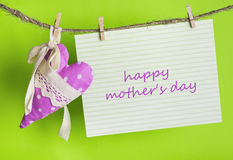 Je t'aime maman, le jour de mère heureux ! Photographie stock libre de droits