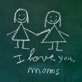Je t'aime, mamans Photos stock