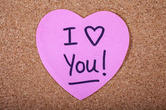 Je t'aime message Photos stock