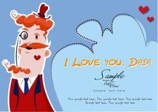 Je t'aime, papa Illustration Libre de Droits