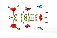 Je t aime Royalty Free Stock Image