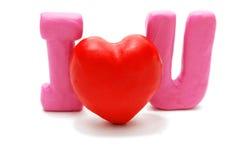 Je t'aime (position simple) Image libre de droits