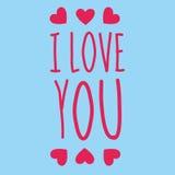 Je t'aime texte Image libre de droits