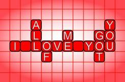 Je t'aime, tout le moi vous a obtenu illustration libre de droits