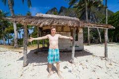 Je vais vivre sur cette maison de plage Photos stock