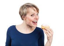 Je vais vous manger, peu de beignet Photos libres de droits