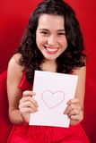Je vois l'amour en rouge Image stock