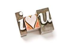 Je vous aime (coeur) Image libre de droits