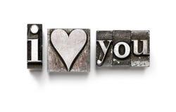 Je vous aime (coeur) Photos stock