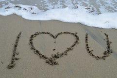 Je vous aime l'océan Images stock