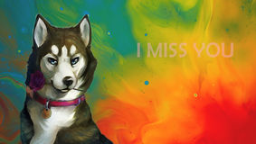 Je vous manque Image stock