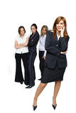 Jealous business women. Successful business woman and jealous women team stock images
