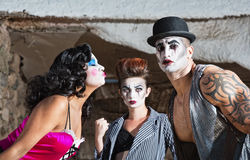 Jealous Cirque Clown Royalty Free Stock Images