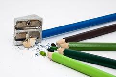 Jealous crayons Stock Photography