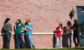 Jealous Group of teen girls Royalty Free Stock Images