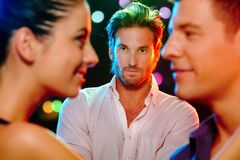 Free Jealous Man Looking At Flirting Couple Royalty Free Stock Photo - 24456025