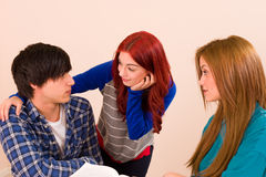 Jealous moment Royalty Free Stock Photography