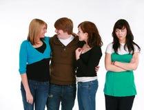 Jealous teen girl stock photos