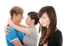 Jealousy girl. Royalty Free Stock Photography