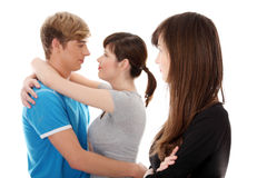 Jealousy girl. Stock Images