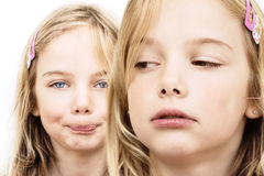 Jealousy Sibling Rivalry Royalty Free Stock Images