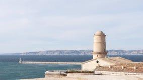 Οχυρό Άγιος-Jean στη Μασσαλία, Γαλλία απόθεμα βίντεο