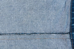 Jean background ,Blue denim jeans texture,Textured striped jeans denim linen fabric Royalty Free Stock Images