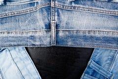 Jean Background Textura azul de la mezclilla del dril de algodón concepto para la moda foto de archivo libre de regalías