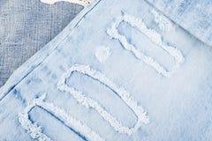 Jean Background Textura azul de la mezclilla del dril de algodón concepto para la moda imagen de archivo