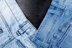 Jean Background Textura azul de la mezclilla del dril de algodón concepto para la moda Copie el espacio Capítulo fotografía de archivo libre de regalías