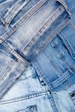 Jean Background Textura azul de la mezclilla del dril de algodón concepto para la moda Copie el espacio Capítulo imagen de archivo libre de regalías