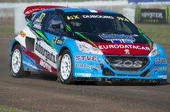 Jean Baptiste Dubourg Barcelona FIA świat Rallycross Obrazy Royalty Free
