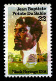 Jean Baptiste Pointe Du Sable US Postage Stamp Royalty Free Stock Photography