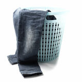 Jean in basket Stock Photography