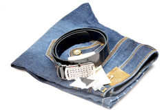 Jean and belt Royalty Free Stock Image