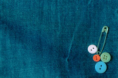 Jean and buttons Stock Photos