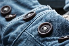 Jean cardigan with buttons Stock Photography