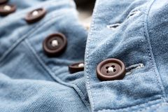 Jean cardigan with buttons Royalty Free Stock Photos