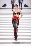 Jean-Charles de Castelbajac διάδρομος επιδείξεων μόδας Στοκ φωτογραφία με δικαίωμα ελεύθερης χρήσης