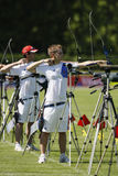 Jean-Charles VALLADONT (FRA) et Thomas AUBERT (FRA. ).18th European and mediterranean Archery Championships.Vittel.France.12 to 17 May 2008 Royalty Free Stock Image
